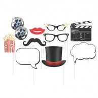 Kit per photo booth hollywood 10 pezzi
