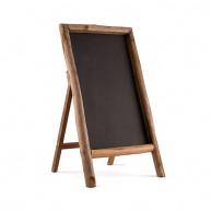 Blackboard with frame in wood