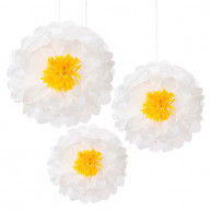 PAPER ORNAMENTS DAISIES