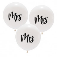 Large balloon mrs 3 pieces
