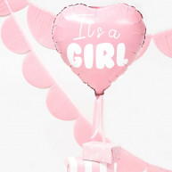 Palloncino Cuore It's a Girl