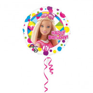 "Pallone foil Standard 17"" Barbie Happy Birthday"