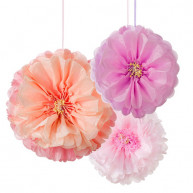 PAPER ORNAMENTS PEONIES