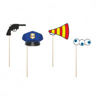 PHOTO BOOTH POLICE 4 PCS
