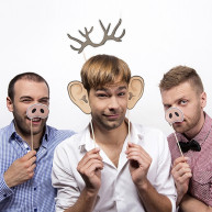 PHOTO BOOTH FUNNY LAYINGS 5 PCS