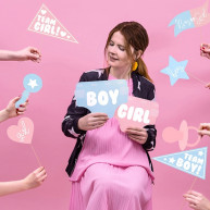 Photo booth gender reveal 11 pezzi