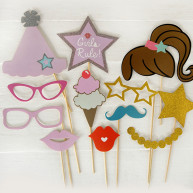 Kit per photo booth party girl 24 pezzi