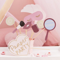 Kit per photobooth pamper party 10 pezzi