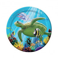 Piatto 18cm Mare Ocean Party 8 pz