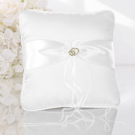 WEDDING RING PILLOW TWO LITTLE HEARTS