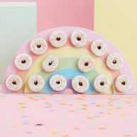 Rainbow stand donuts
