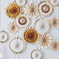 Rosette decorative gold wedding 15 pezzi