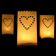 10 CANDLE BAG - HEART