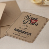 Save the date love vintage