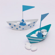 6 PLACE CARD METALLIC BOAT