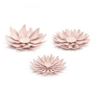 Set of 3 decorative table flowers