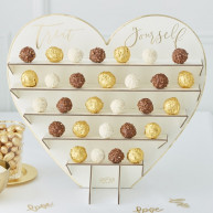 Gold wedding stand cioccolatini