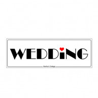 CAR LICENCE PLATE WEDDING LOVE