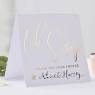 Wedding instagram gold wedding 5 pezzi