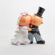 CAKE TOPPER DANCING BRIDE AND GROOM