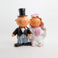 CAKE TOPPER BRIDE AND GROOM HOLDING THEMSELVES BY THEIR HANDS