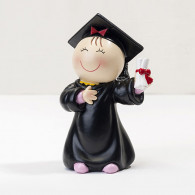 Cake topper ragazza laurea cartoon