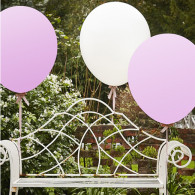 WEDDING BALLOONS EXTRALARGE WHITE AND PINK