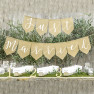 Banner Bandierine Just Married Juta