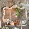 White frame for tableau in shabby chic style